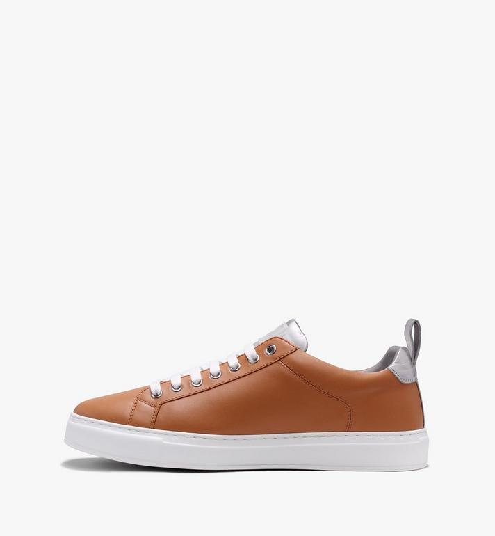 MCM Women's Low-Top Logo Sneakers in Rubberized Leather  MES9AMM16CS038 Alternate View 4