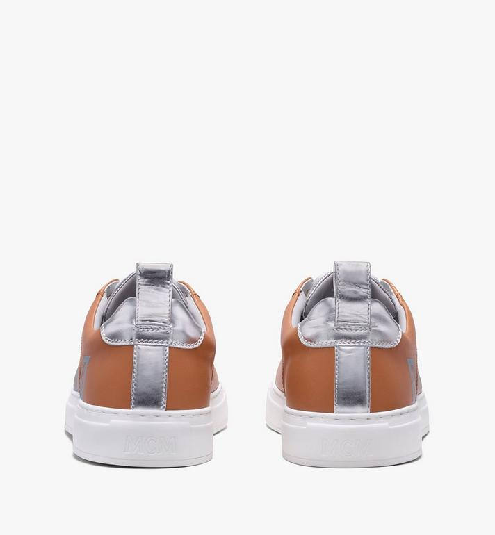 MCM Women's Low-Top Logo Sneakers in Rubberized Leather  MES9AMM16CS039 Alternate View 3