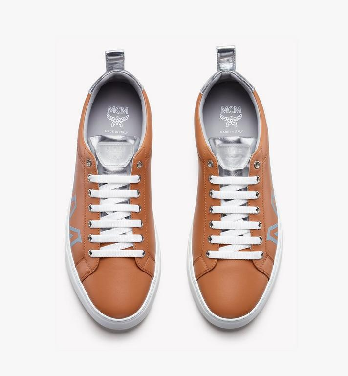 MCM Women's Low-Top Logo Sneakers in Rubberized Leather  MES9AMM16CS039 Alternate View 5