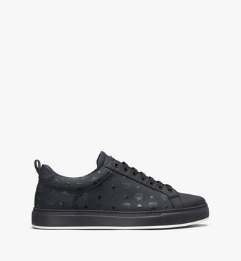 MCM Women's Low-Top Sneakers in Visetos Black MES9AMM90BK039 Alternate View 2