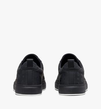MCM Women's Low-Top Sneakers in Visetos Black MES9AMM90BK039 Alternate View 3