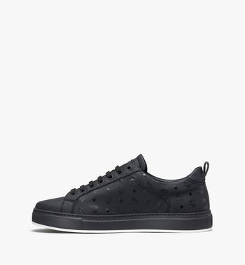 MCM Women's Low-Top Sneakers in Visetos Black MES9AMM90BK039 Alternate View 4