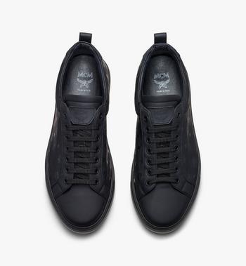MCM Women's Low-Top Sneakers in Visetos Black MES9AMM90BK039 Alternate View 5