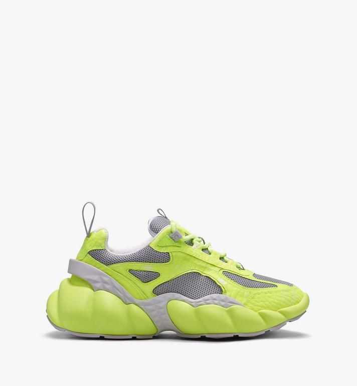 MCM Women's Low-Top Himmel Sneaker in Visetos Yellow MES9ANX05YN037 Alternate View 2