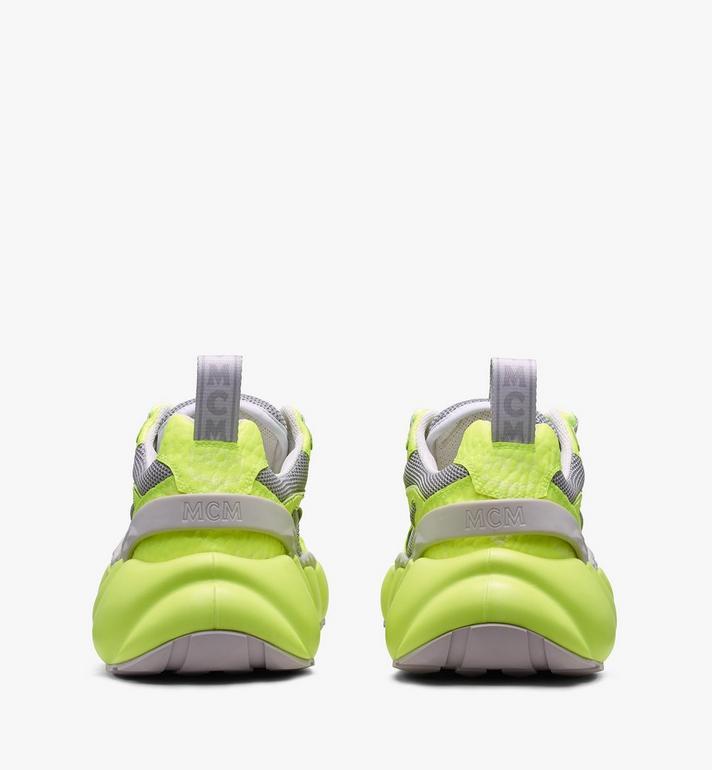 MCM Women's Low-Top Himmel Sneaker in Visetos Yellow MES9ANX05YN037 Alternate View 3