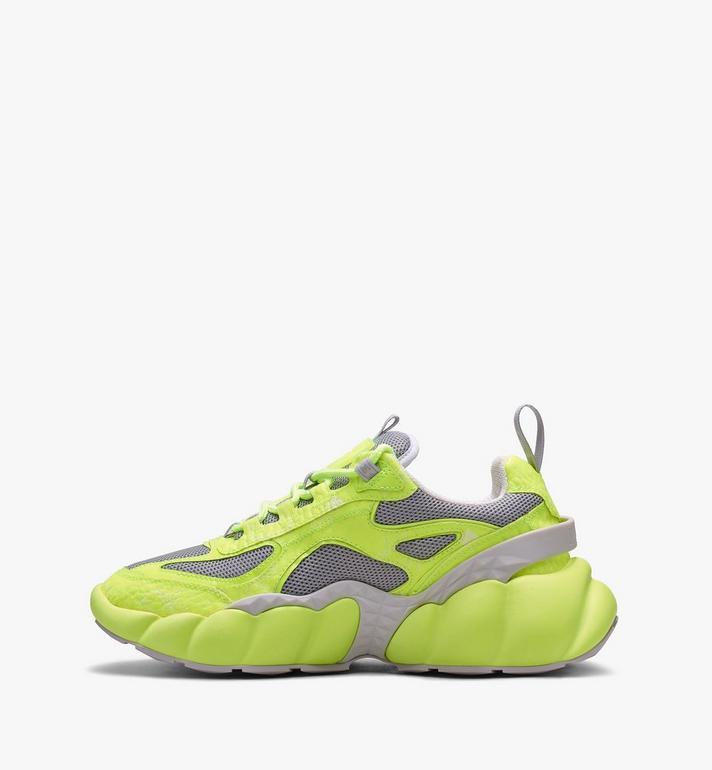 MCM Women's Low-Top Himmel Sneaker in Visetos Yellow MES9ANX05YN037 Alternate View 4