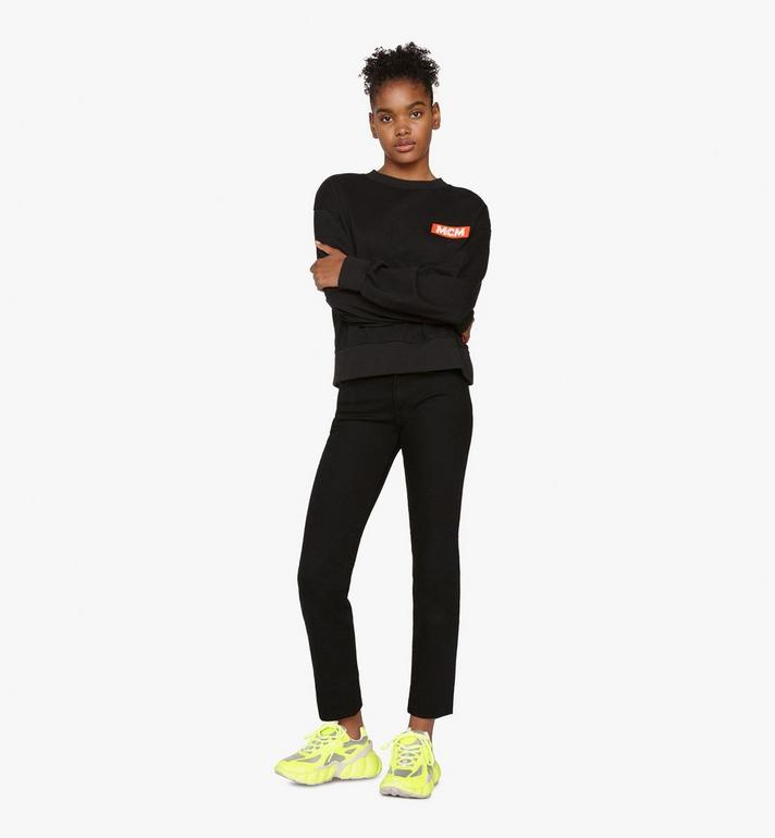 MCM Women's Low-Top Himmel Sneaker in Visetos Yellow MES9ANX05YN037 Alternate View 6
