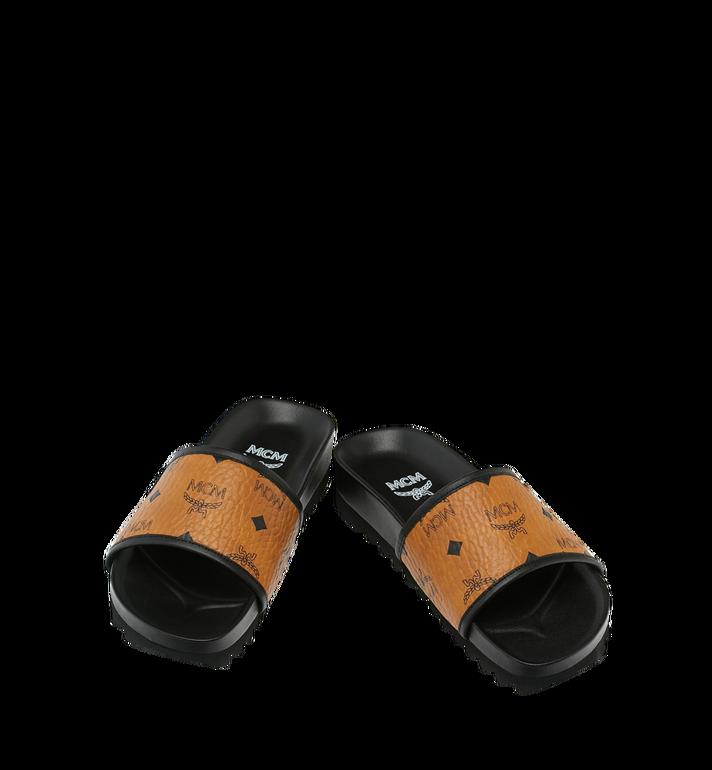 MCM Women's Slides in Visetos Cognac MES9S2K05CO038 Alternate View 4
