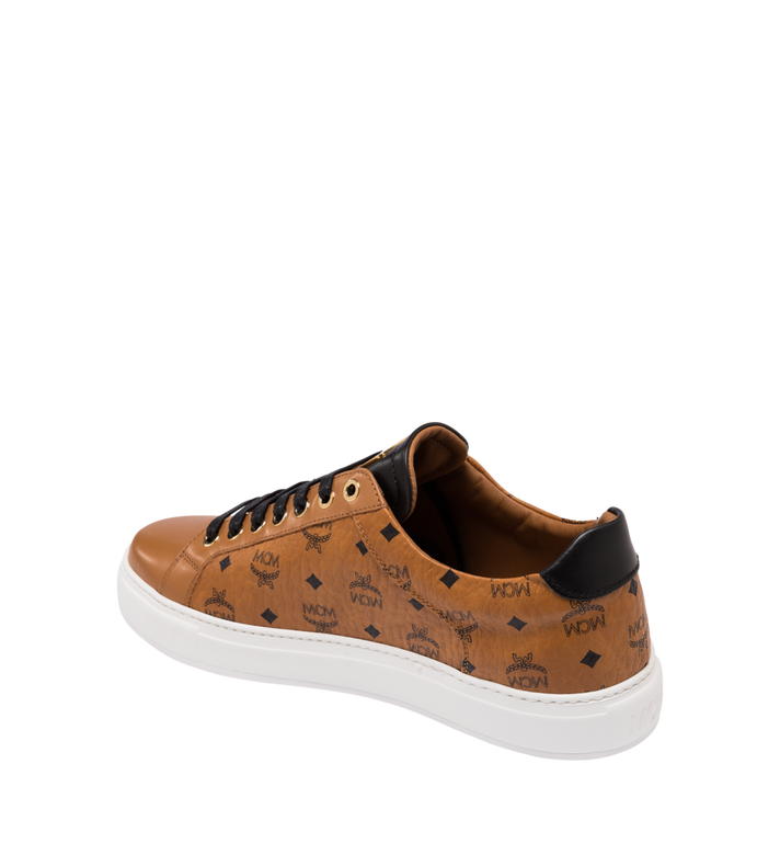 MCM Women's Classic Low Top Sneakers in Visetos Cognac MES9SMM03CO035 Alternate View 3