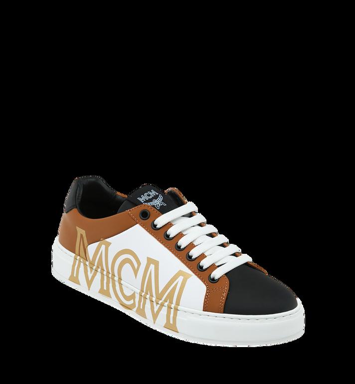 MCM Baskets basses en cuir pour femme Alternate View