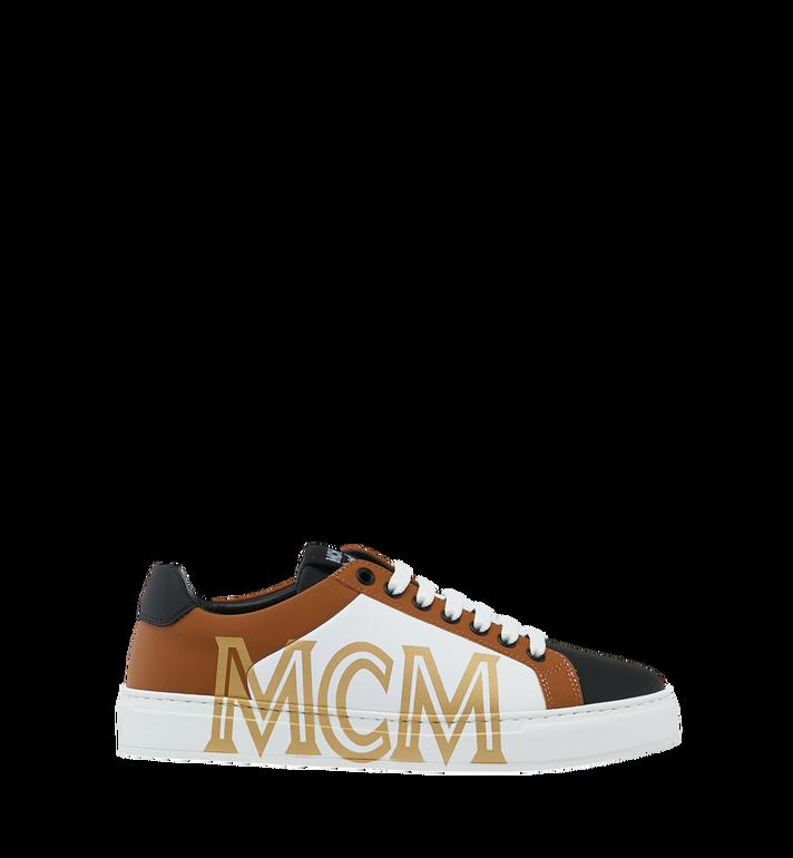 MCM Baskets basses en cuir pour femme Cognac MES9SMM16CO037 Alternate View 2