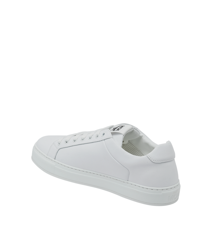 MCM Baskets basses en cuir pour femme White MES9SMM16WT037 Alternate View 3