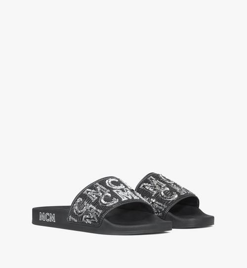 Women's Sequin Logo Slides