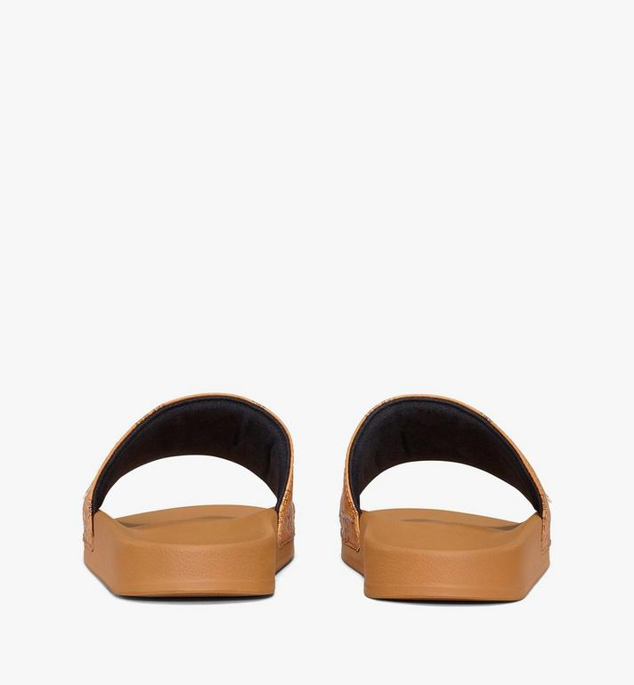 MCM Women's MCM Monogram Slides Cognac MESAAMM11CO036 Alternate View 3