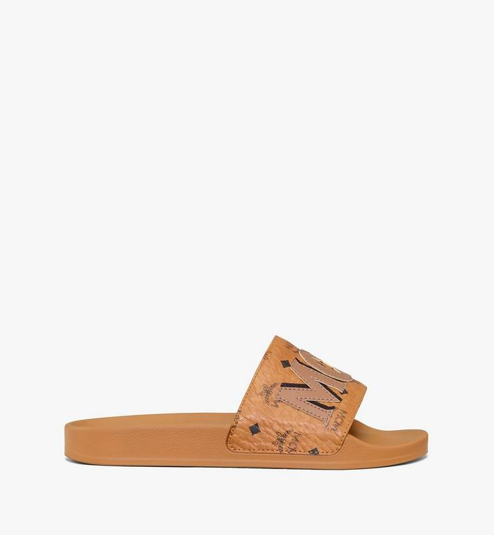 MCM Women's MCM Monogram Slides Cognac MESAAMM11CO036 Alternate View 4