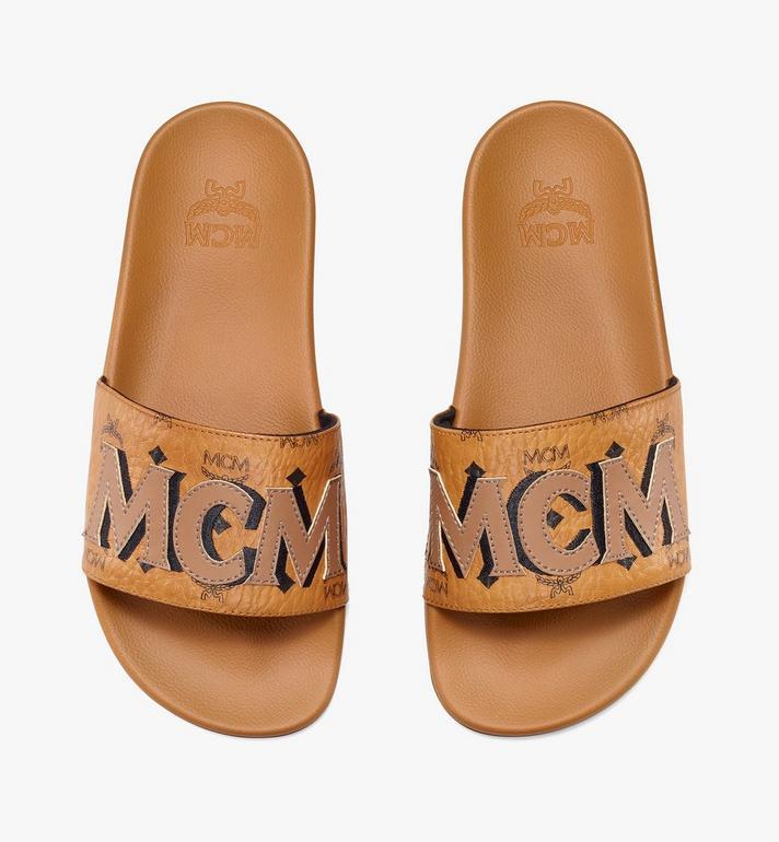 MCM Women's MCM Monogram Slides Cognac MESAAMM11CO037 Alternate View 5