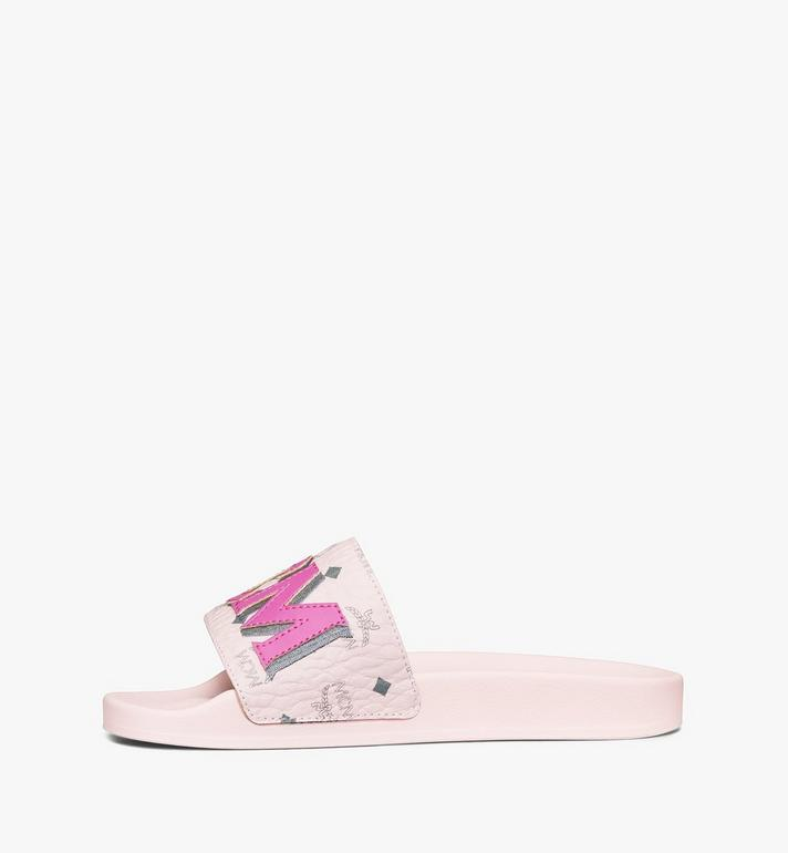 MCM Women's MCM Monogram Slides Pink MESAAMM11QH036 Alternate View 2