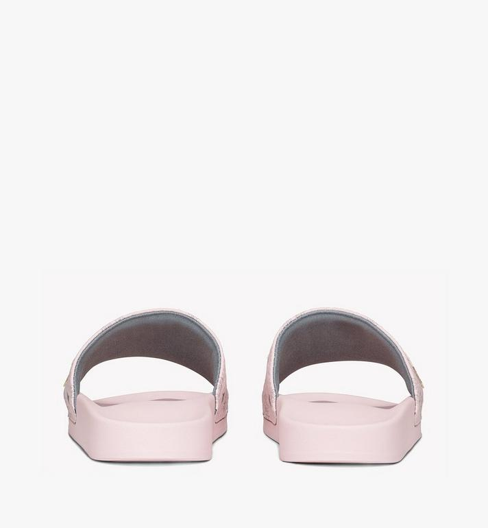 MCM Women's MCM Monogram Slides Pink MESAAMM11QH036 Alternate View 3