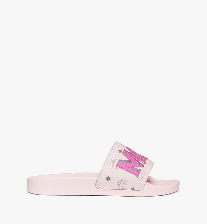 MCM Women's MCM Monogram Slides Pink MESAAMM11QH036 Alternate View 4