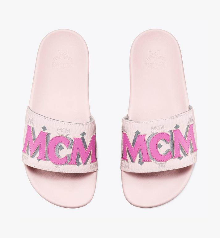MCM Women's MCM Monogram Slides Pink MESAAMM11QH036 Alternate View 5