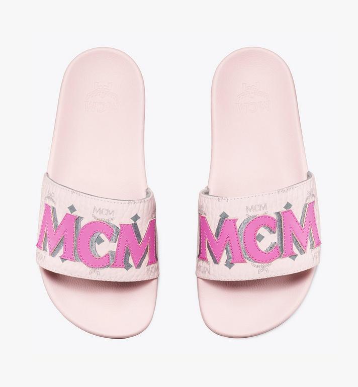 MCM Women's MCM Monogram Slides Pink MESAAMM11QH037 Alternate View 5