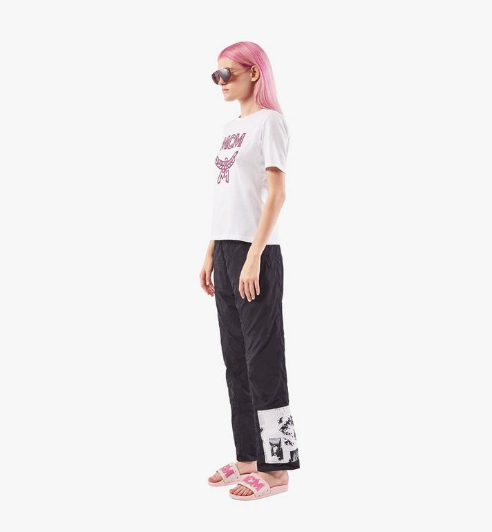 MCM Women's MCM Monogram Slides Pink MESAAMM11QH037 Alternate View 7