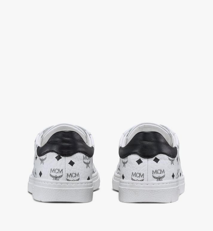 MCM Women's Terrain Lo Sneakers in Visetos White MESAAMM17WT037 Alternate View 3