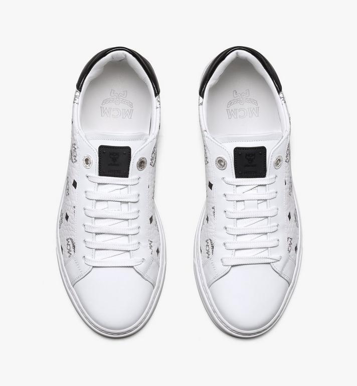 MCM Women's Terrain Lo Sneakers in Visetos White MESAAMM17WT039 Alternate View 5