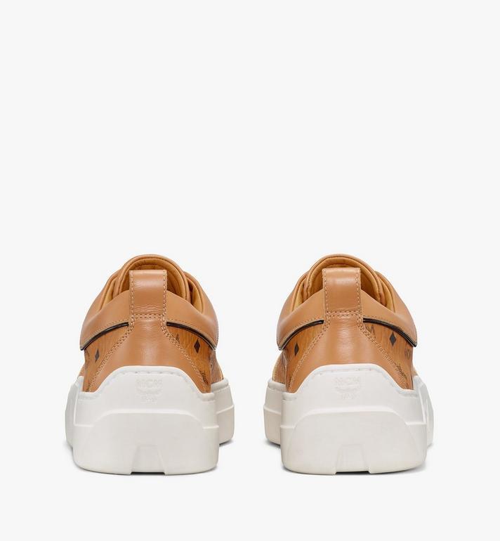MCM รองเท้าผ้าใบผู้หญิง Skyward Platform ลาย Visetos Cognac MESAAMM19CO038 Alternate View 3