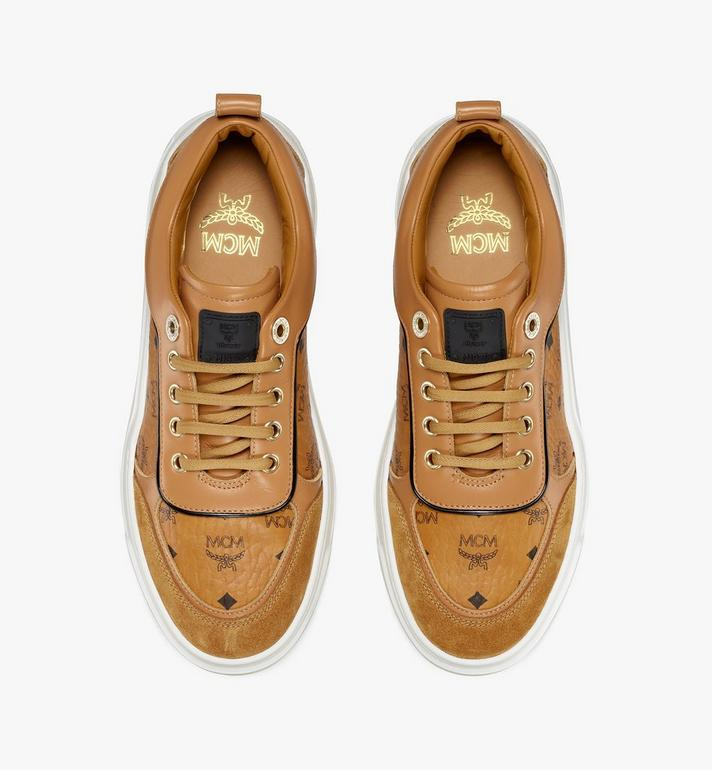 MCM Women's Skyward Platform Sneakers in Visetos Cognac MESAAMM19CO038 Alternate View 5