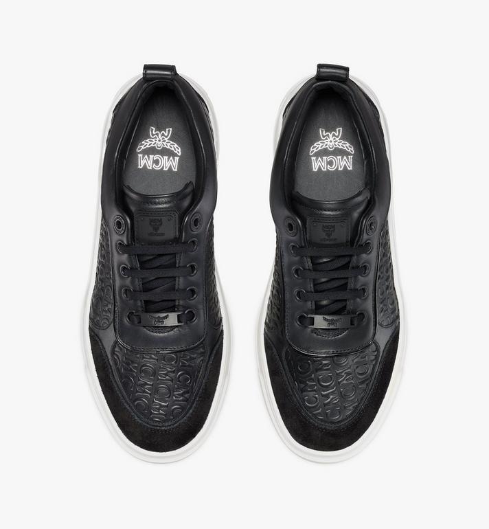 MCM Women's Skyward Platform Sneakers in Monogram Leather Black MESAAMM21BK037 Alternate View 5