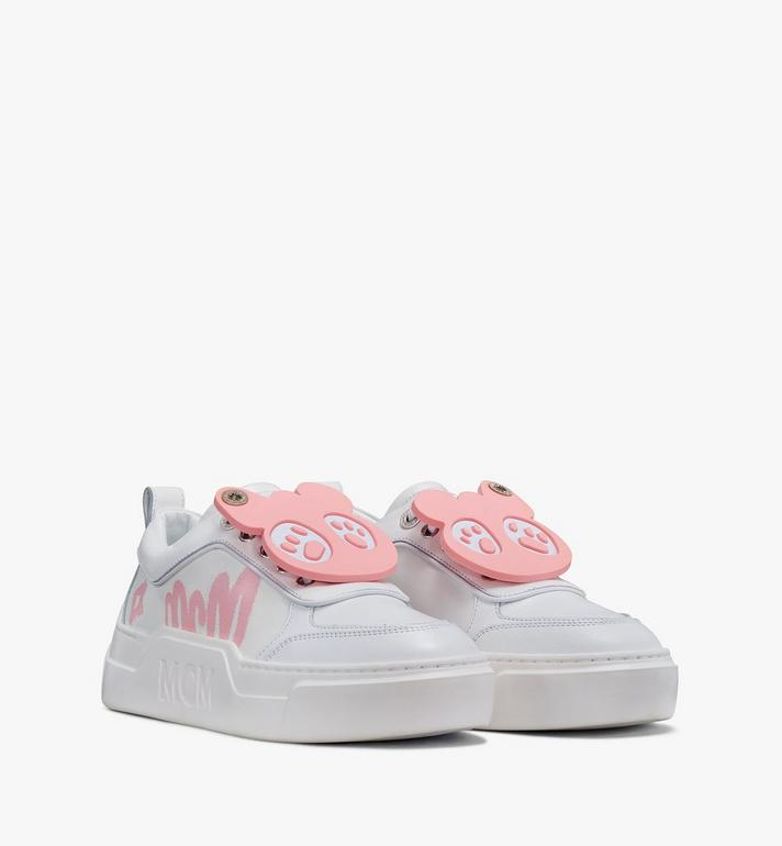 MCM Women's Skyward Platform Sneakers with Bear Charm Alternate View