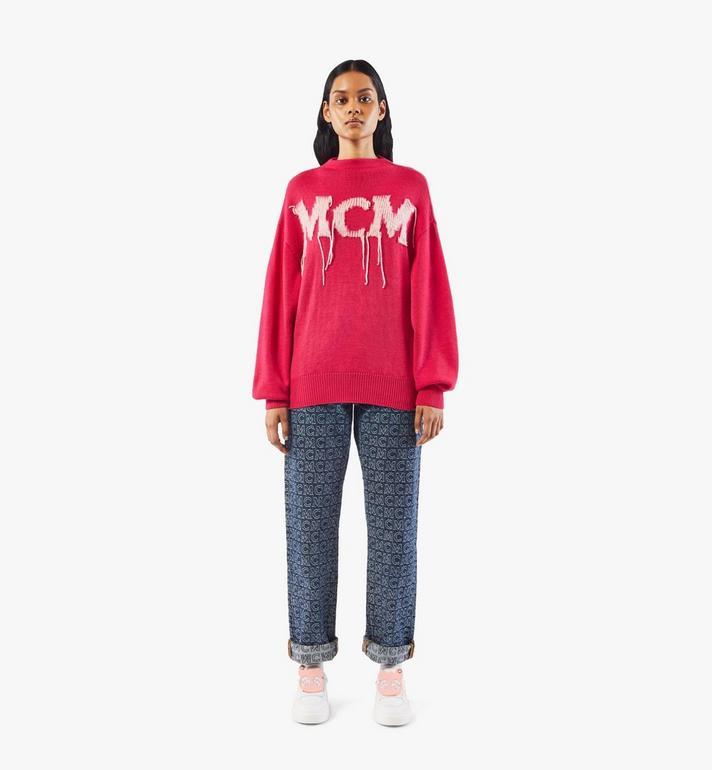 MCM Women's Skyward Platform Sneakers with Bear Charm White MESAAMM22WT037 Alternate View 6