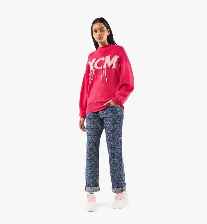 MCM Women's Skyward Platform Sneakers with Bear Charm White MESAAMM22WT037 Alternate View 8