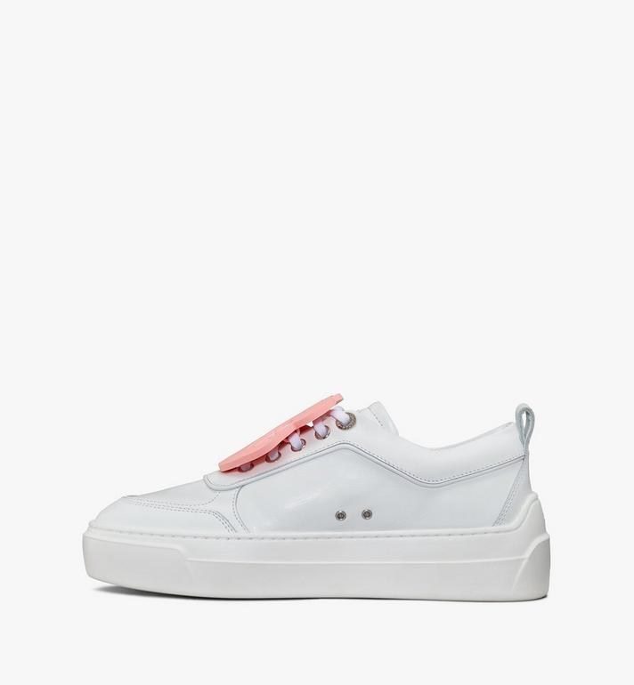 MCM Women's Skyward Platform Sneakers with Bear Charm White MESAAMM22WT038 Alternate View 2