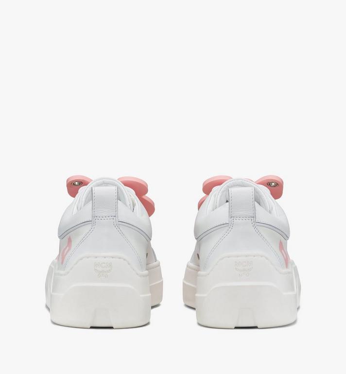MCM Women's Skyward Platform Sneakers with Bear Charm White MESAAMM22WT038 Alternate View 3