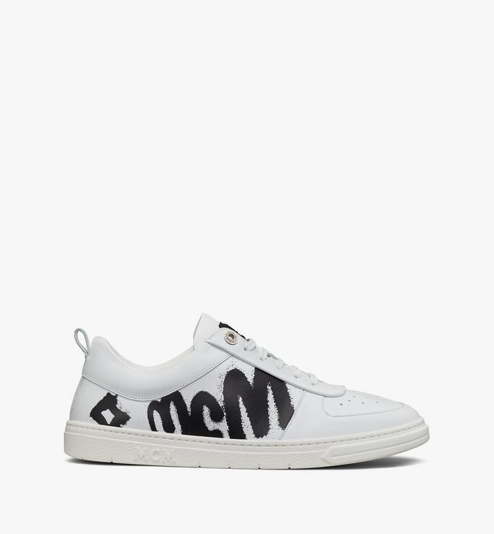 MCM Terrain Lo Sneaker mit grossem Logo für Damen Pink MESAAMM23WT039 Alternate View 4