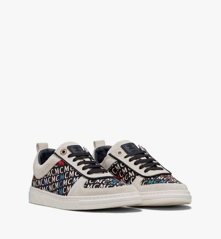 MCM Women's Terrain Lo Sneakers in Diagonal Monogram Canvas Alternate View