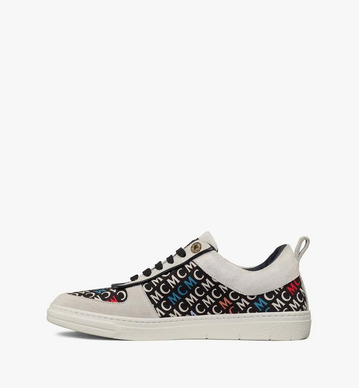 MCM Women's Terrain Lo Sneakers in Diagonal Monogram Canvas White MESAAMM25IK038 Alternate View 2