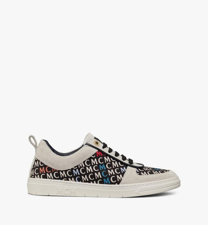 MCM Women's Terrain Lo Sneakers in Diagonal Monogram Canvas White MESAAMM25IK038 Alternate View 4