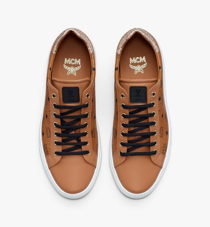 MCM Women's Low-Top Sneakers in Visetos Cognac MESASMM14CO036 Alternate View 5