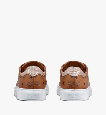 MCM Women's Low-Top Sneakers in Visetos  MESASMM14CO037 Alternate View 3