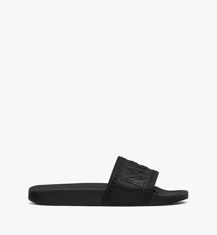 MCM Women's Big Logo Slides Black MESASMM24BK037 Alternate View 2
