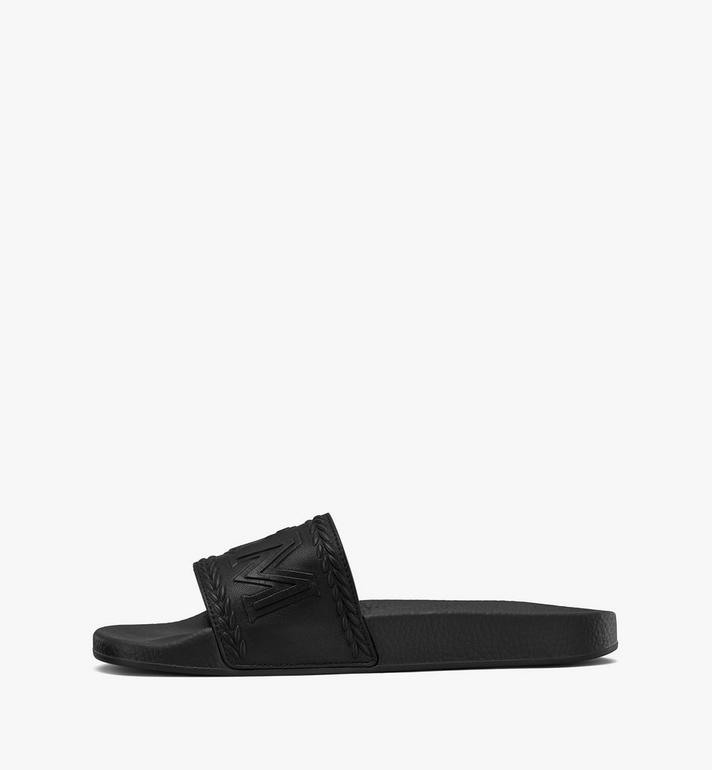MCM Women's Big Logo Slides Black MESASMM24BK037 Alternate View 4