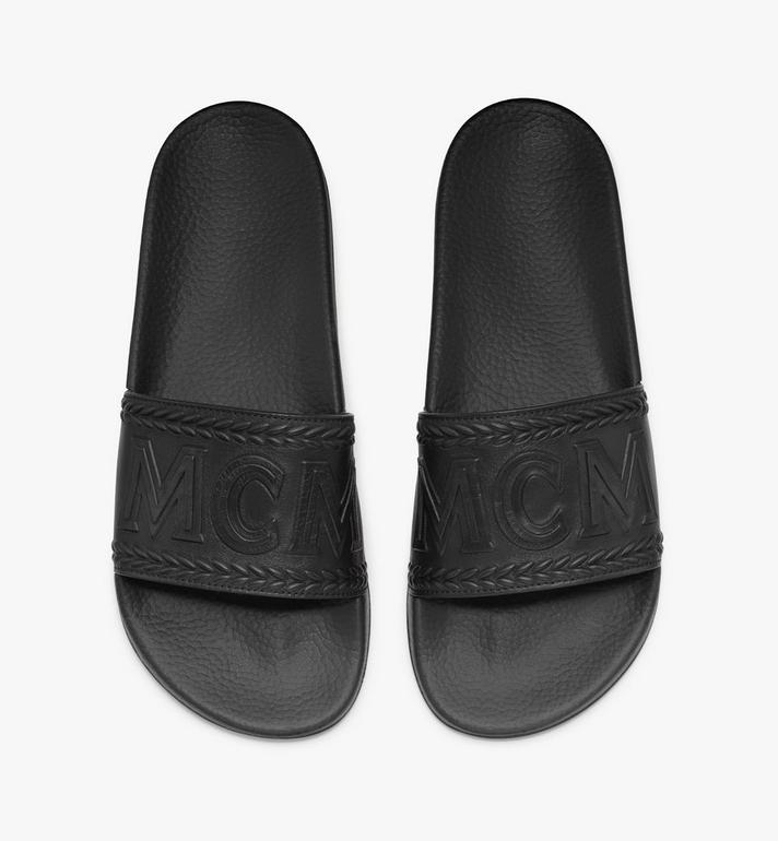 MCM Women's Big Logo Slides Black MESASMM24BK037 Alternate View 5