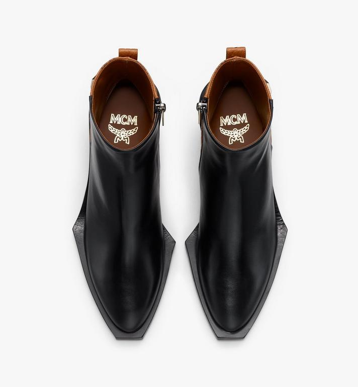MCM Women's Ankle Boots in Visetos Black MESASMM35BK037 Alternate View 5
