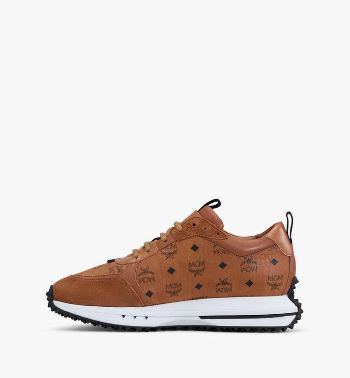MCM Mach 76 Sneaker in Visetos für Damen Cognac MESASMM43CO036 Alternate View 4