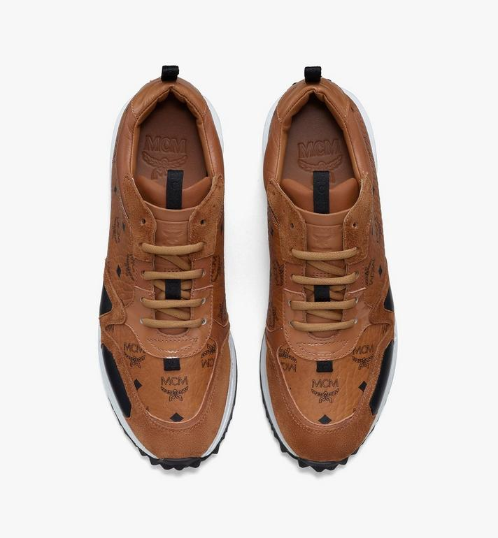 MCM Mach 76 Sneaker in Visetos für Damen Cognac MESASMM43CO036 Alternate View 5