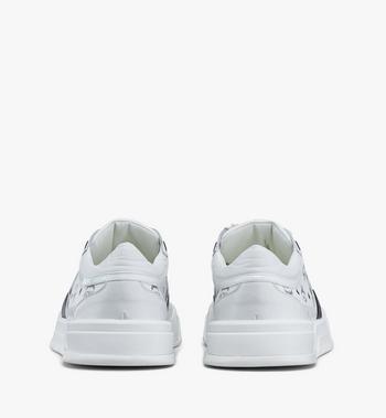 MCM Women's Skyward Low-Top Sneakers in Visetos White MESASMM44WT038 Alternate View 3