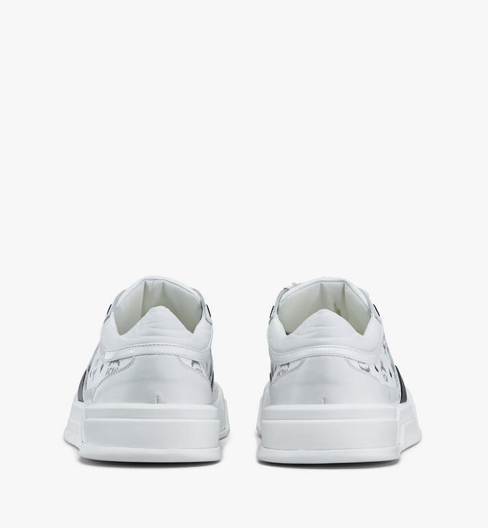 MCM Women's Skyward Low-Top Sneakers in Visetos White MESASMM44WT039 Alternate View 3